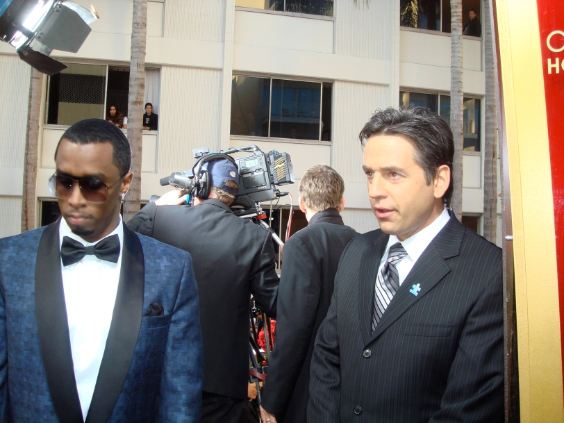 With Sean PDiddy Combs at the Golden Globes shortly we both enjoyed a cappuccino