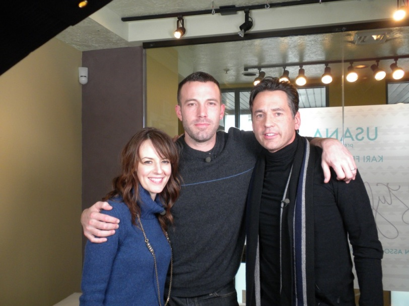 With Ben Affleck at the Sundance Film Festival