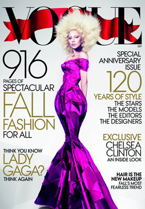 'LEAKED' BECUZ VOGUE KNOWS GAGA HAS 28-MILLION TWITTER FOLLOWERS